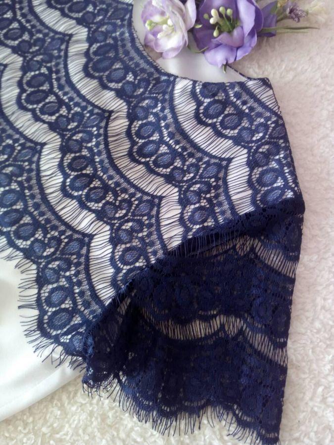 Нарядная кружевная блузка на девочку 10-11 лет