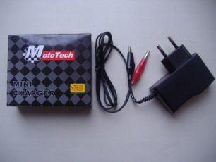 Зарядное 12v MotoTech (для скутера,мопеда,мотоцикла,детской машинки)