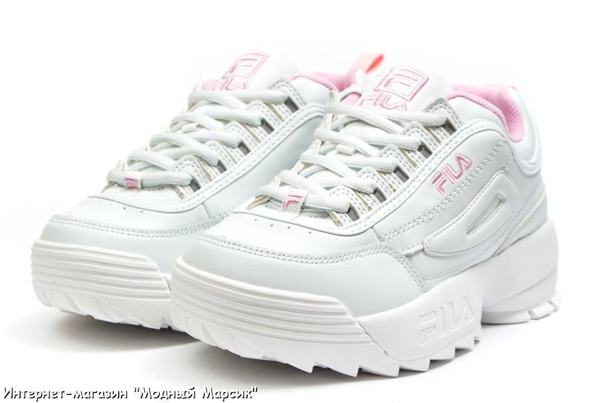 6b3fa0dd9 Модные белые женские кроссовки Фила Fila Disruptor 2, р 36-41, AF14484
