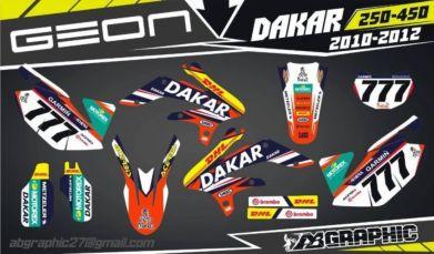 Графика Наклейки на Мото Geon Dakar 250 450 4V 2V TerraX 250