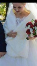 Накидка на свадебное платье, свадебная шубка, весільна накидка