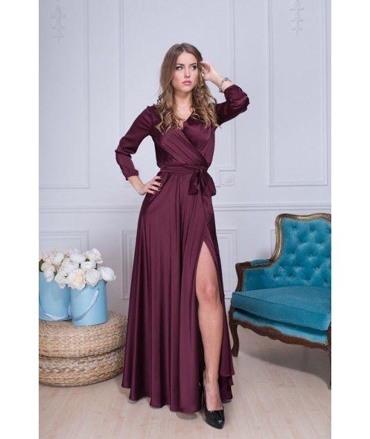 aa57c9a4bb6 Длинное шелковое платье на запах  1 275 грн. - Платья