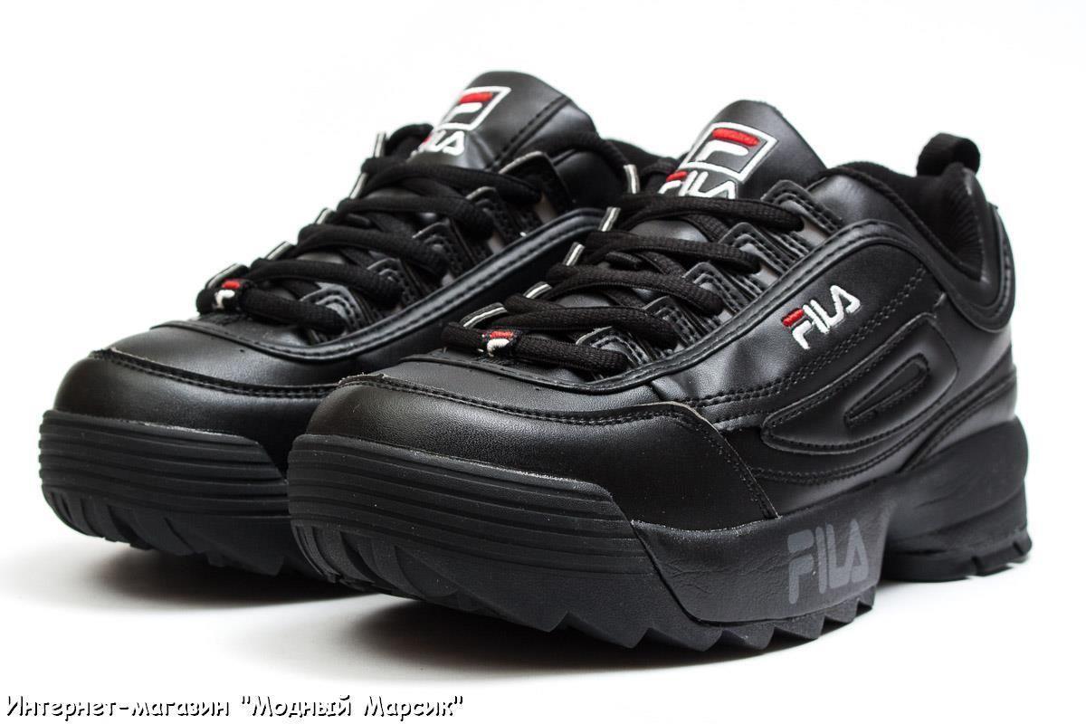 6e529ed1 Женские кожаные кроссовки Fila Disruptor 2, черные, р 36-41, AF13557 ...