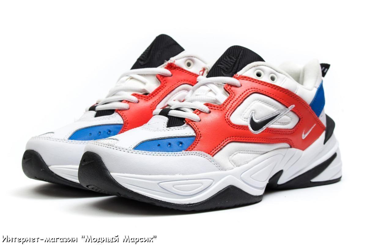 Белые красивые мужские кроссовки Nike M2K Tekno Найк 53a053d16ba43