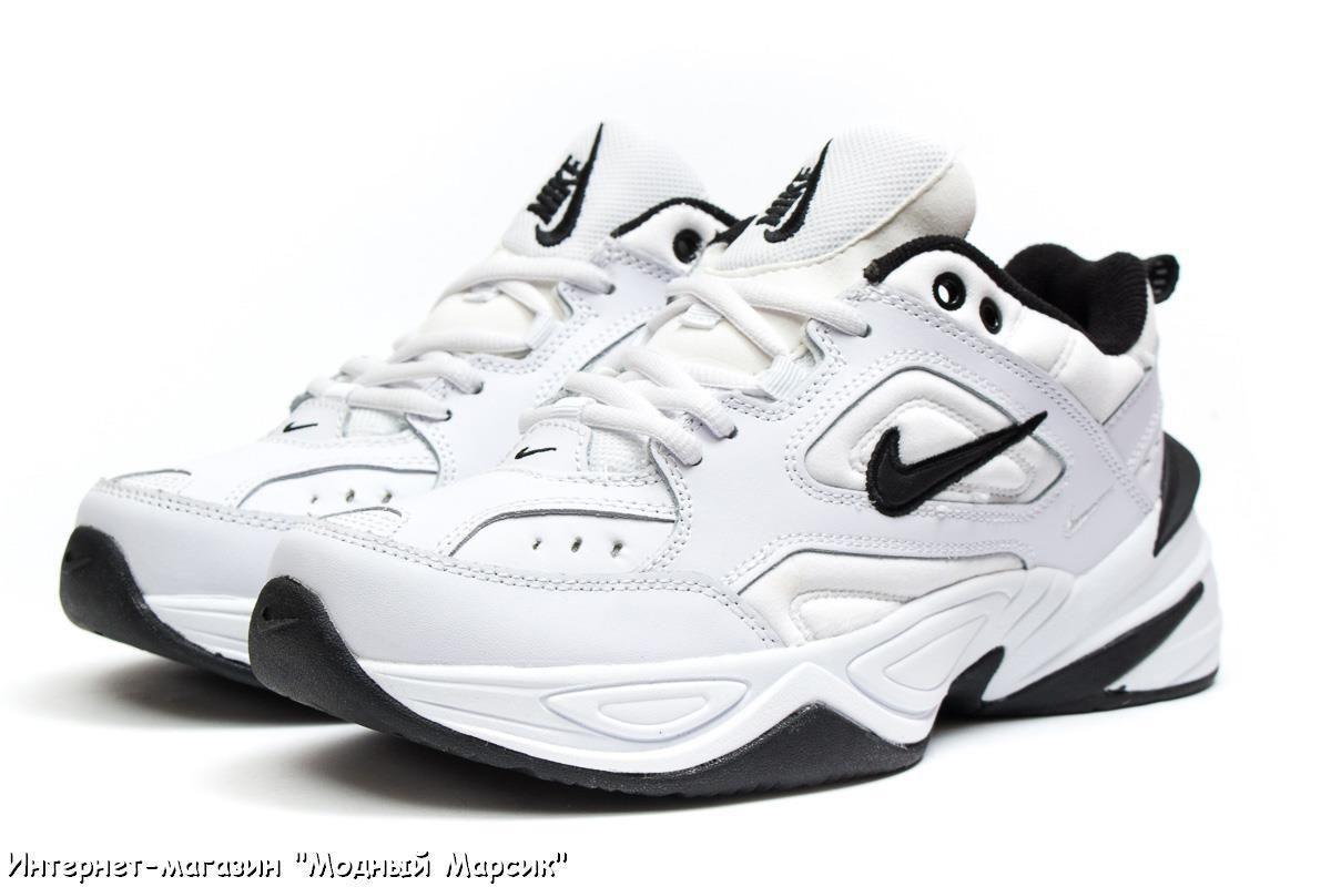 Модные белые мужские кроссовки Nike M2K Tekno Найк 7d06f5ae4d900