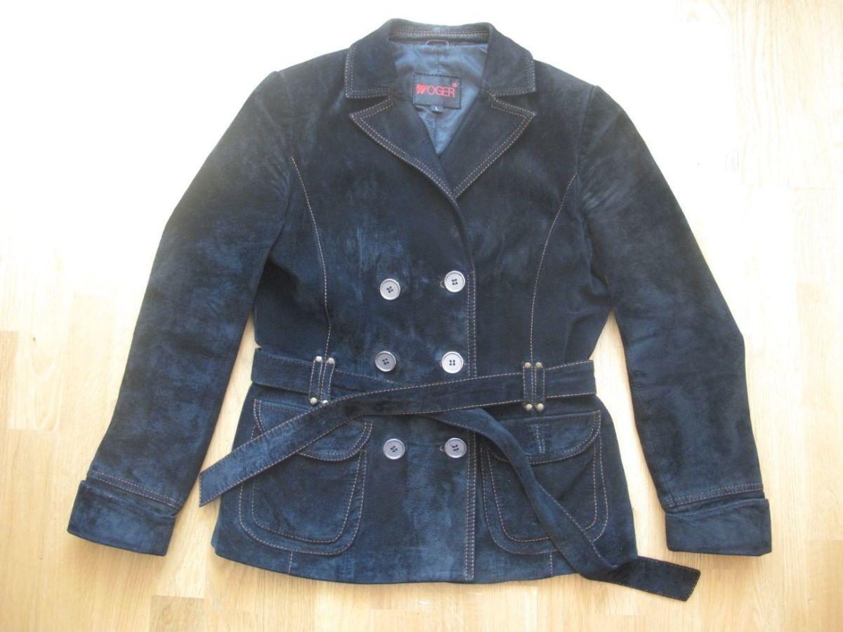 Замшевый пиджак -Woger- 46-48 размер, натуральная замша, шикарно смотр