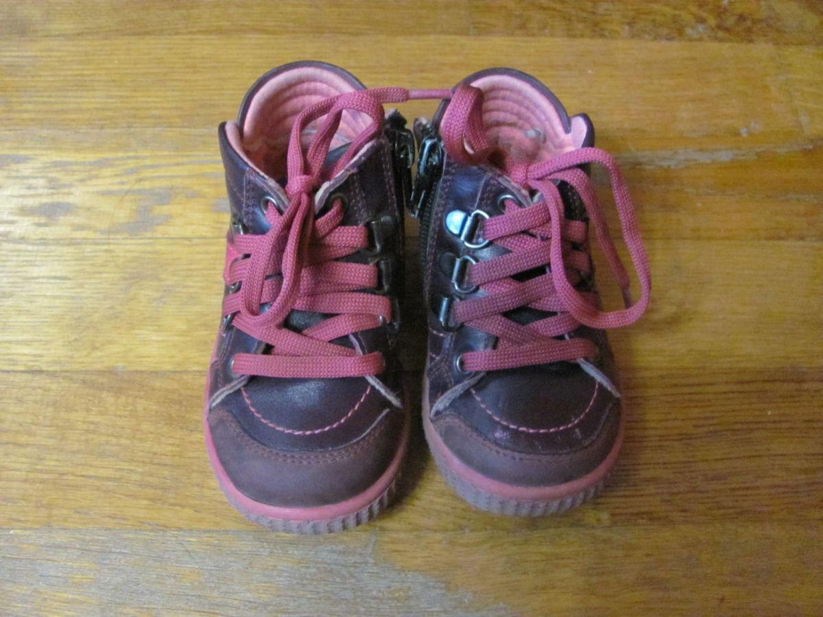 шкіряні турецькі дитячі осінні черевички для дівчинки у хорошому стані f2b3f10501fc2