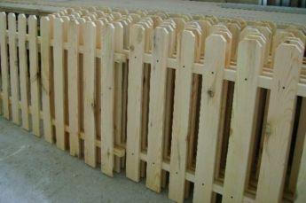 Ограждения, заборы деревянные, штакетник