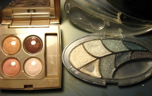 тени Ruby Rose серые, Oriflame Giordani Gold нюд, палетка, с зеркалом