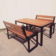 Садовый набор. Стол; лавочка; стол с лавочками