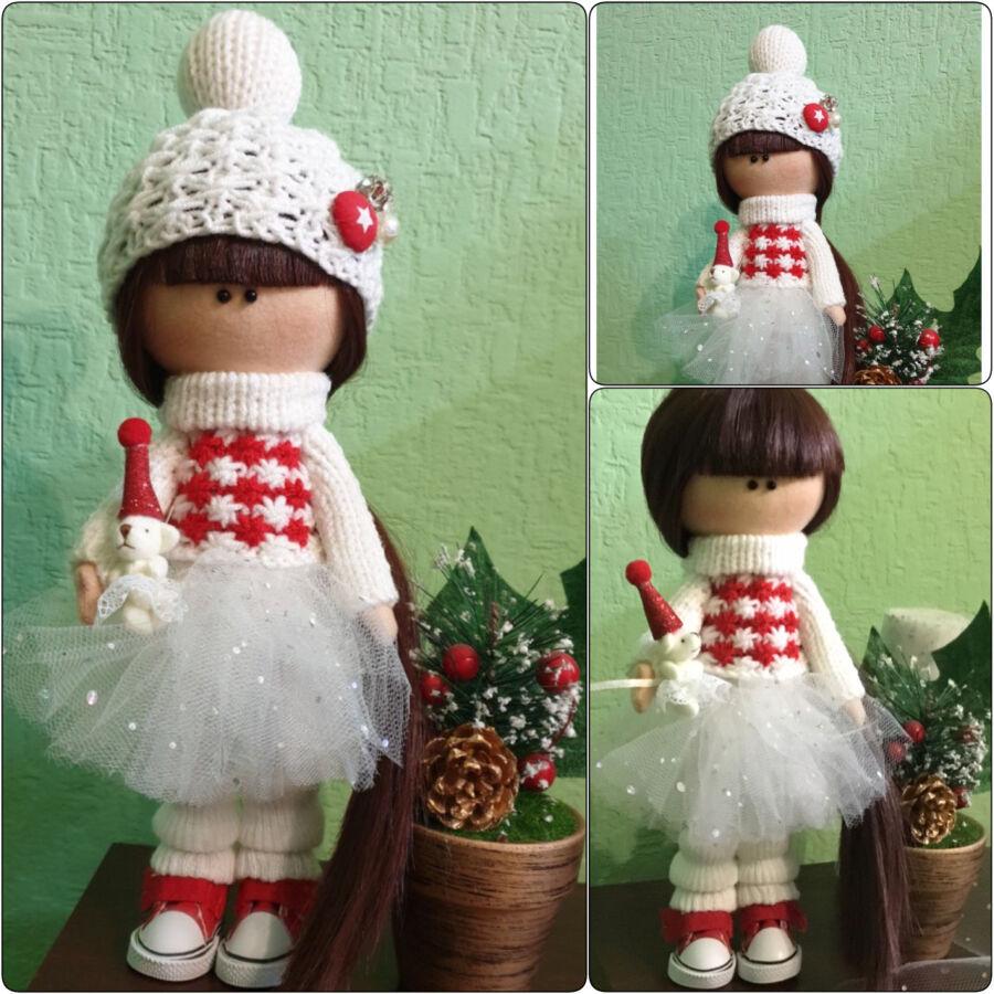 Интерьерные текстильные кукла ручной работы 28 см Идеальный подарок