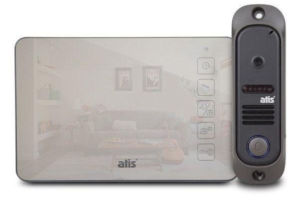Комплект видеодомофона ATIS AD-450M Mirror - память, гарантия