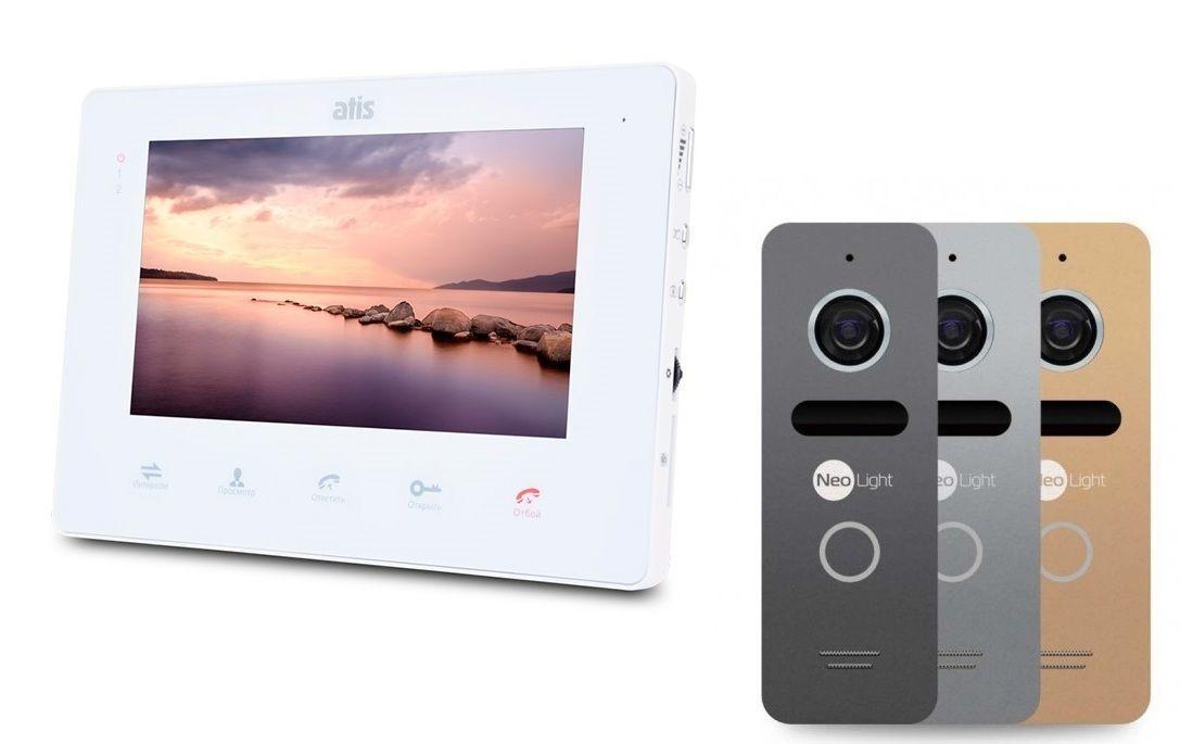 Комплект домофона ATIS AD-730M White - память, детекция, гарантия