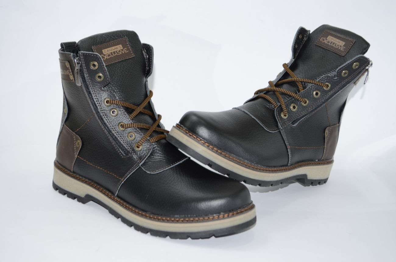 Мужские высокие зимние ботинки из натуральной кожи  1 400 грн ... 36f308a07ea9d