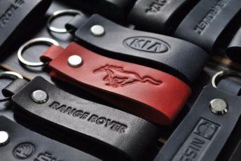 Брелоки с логотипом авто.кожаная ключница.Кожаный брелок для ключей.