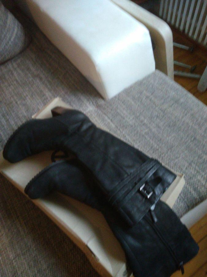 Продам кожаные зимние сапоги р. 40