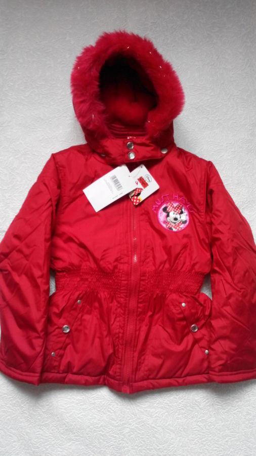Disney Minni Mouse Куртка евро-зима на 5-6 лет.