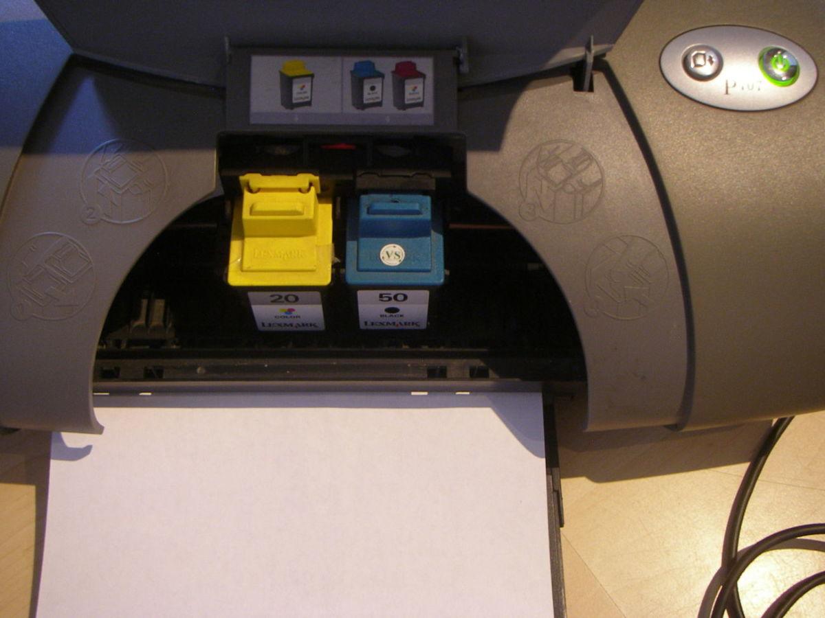 Цветной струйный принтер б/у Lexmark Color Inkjet Printer P707, 30VDC-