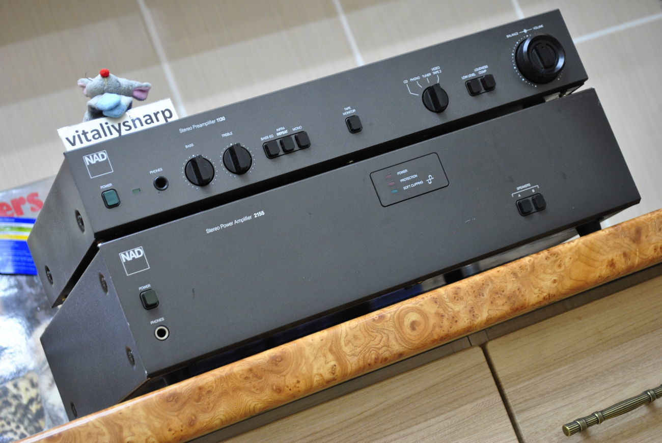 Двухблочный HI-END NAD 1130 + NAD 2155 (467). От 55 вт, 13 кг