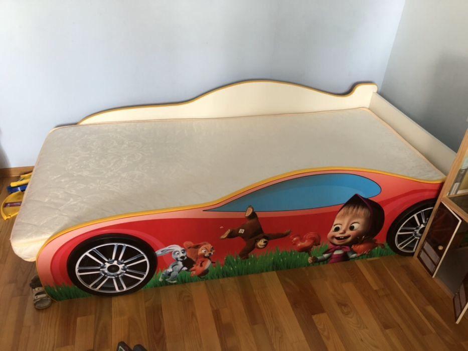 Объявления Тернопіль · Дитячий світ Тернопіль · Постільна білизна Тернопіль.  Дитяче ліжко-машинка «Маша і ведмідь» + ортопедичний матра 098a5e96d5a49