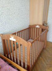 Срочно,Детская итальянская кроватка Ruggeri 125*65