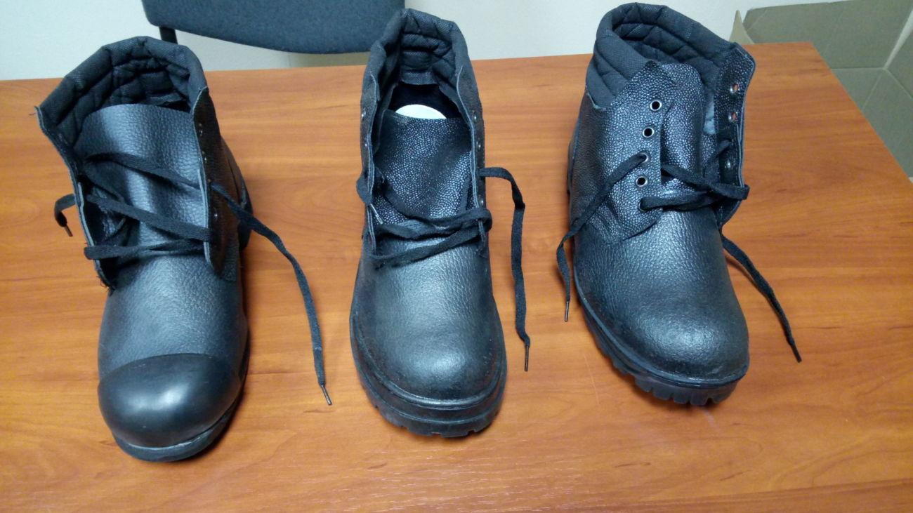 Ботинки рабочие утепленные юфть-кирза