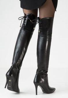 Брендовые кожаные высокие сапоги ботфорты на каблуке Buffalo. 1 из 5 091f546dacf7b