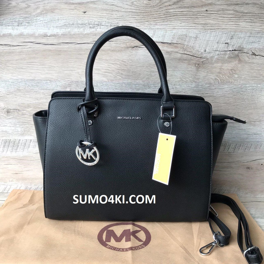 7777a47dee58 Женская сумка Michael Kors Selma MK Мк жіноча сумка Черная чорна   1 ...