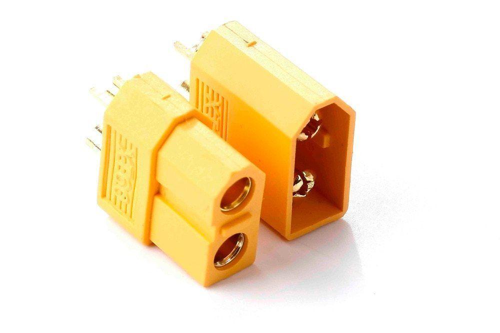 Пара разъёмов XT60 (пара+мама) 60 Ампер, для литиевых батарей. Новые
