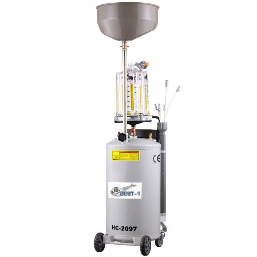 Установка для вакуумного отбора сбора замены масла, 80 л с предкамерой
