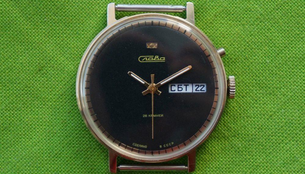 Стильные позолоченные механические часы Слава 26 камней - на ходу ... 51fab64de7692