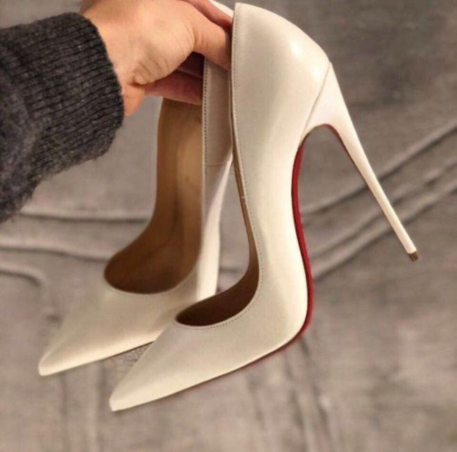 So Kate Лабутены Лодочки Louboutin Белые туфли Дропшиппинг обувь 16dbf8e1f64