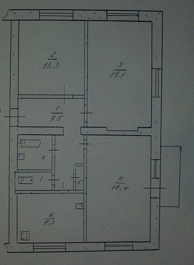 Продам 3-х комнатную квартиру в центре Каменского от собственника