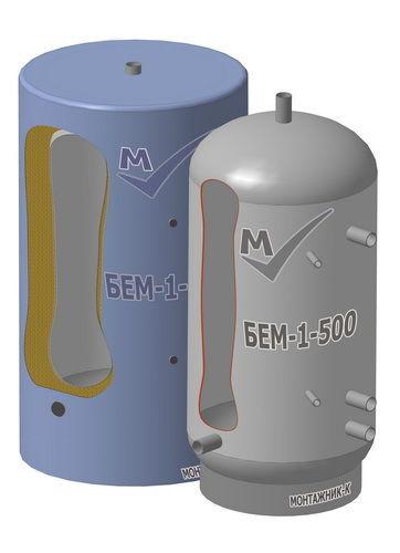 Буферная емкость  из углеродистой стали, объемом 500 литров