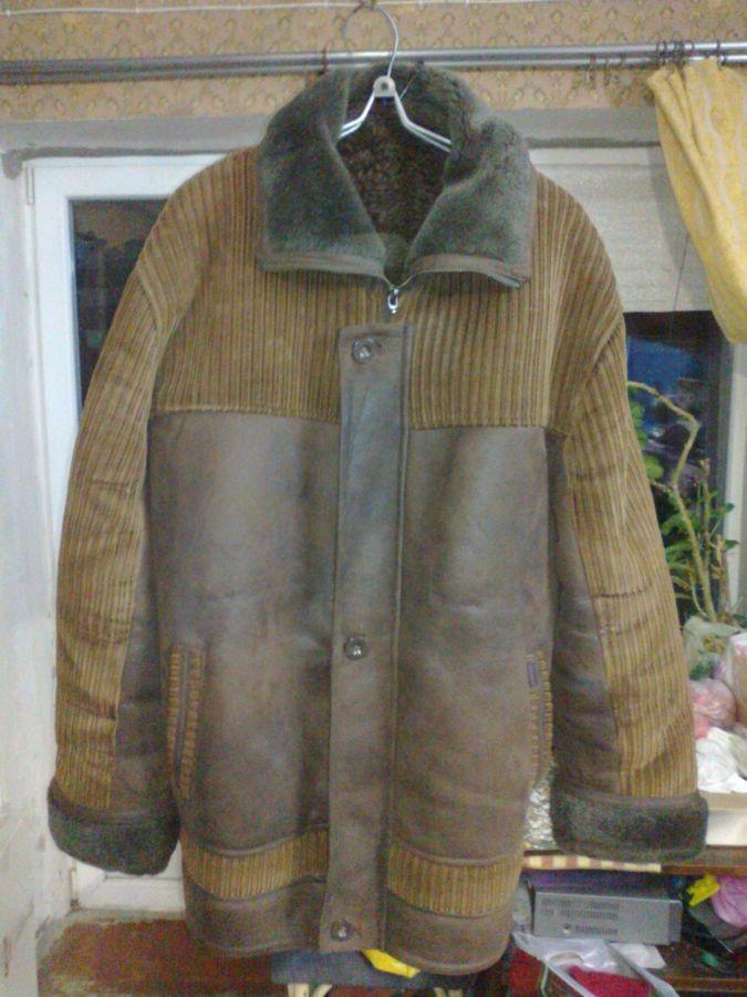 Куртка дублёнка мужская зимняя, тёплая, мех искусственный