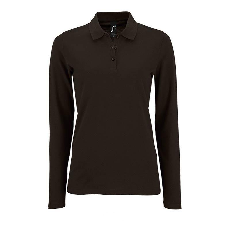 Рубашка-поло  с длинным рукавом