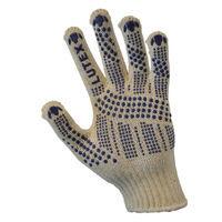 Перчатки трикотажные уплотн. с ПВХ-точкой (4 нити)