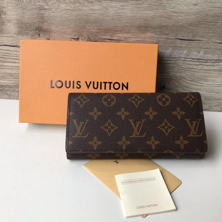 3b639ee5ab27 Купить сейчас - Женский кошелёк Louis Vuitton клатч портмоне LV да ...