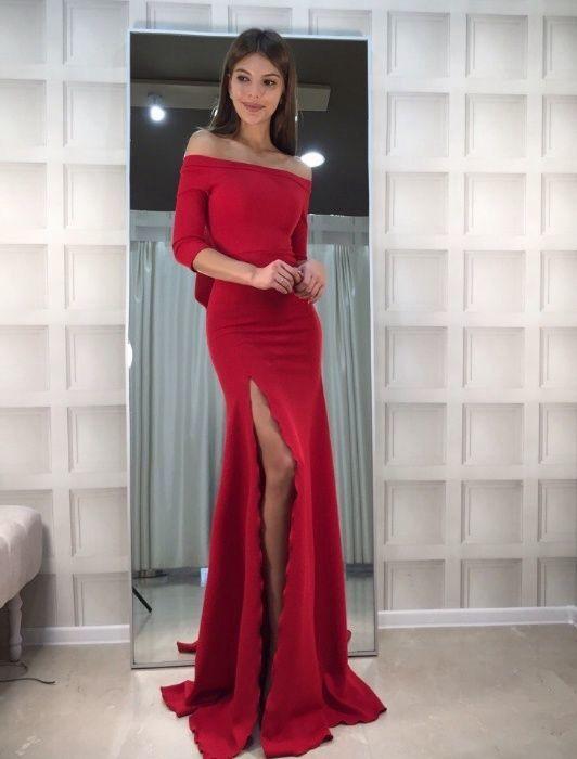 792ad6cde36 Нарядное вечернее длинное платье макси в пол красное синее черное бело