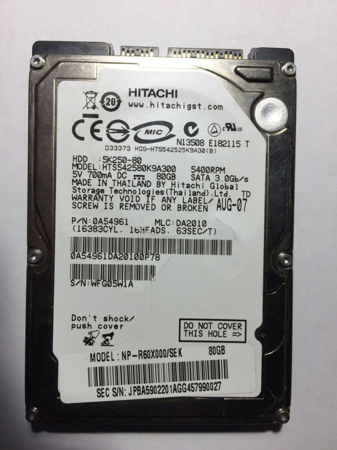 Жорсткий диск для ноутбука 80 Гб SATA (несправний)