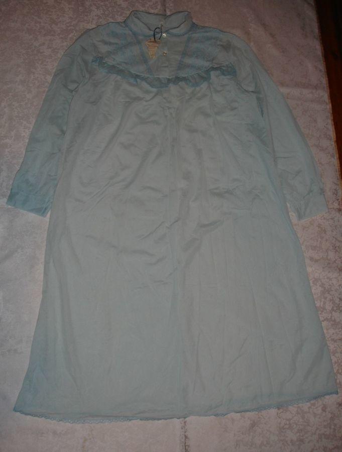 Рубашка/сорочка нічна блідо-голуба; 54-56 р.; нова; довгий рукав, жін.
