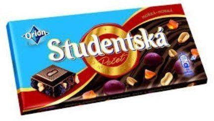 Чешский шоколад Studentska Pecet 180г