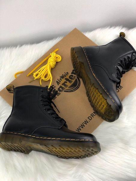 Популярные ботинки Dr Martens 1460 Black (Мех) ЗИМА размеры женские ... 3c0792ef38496