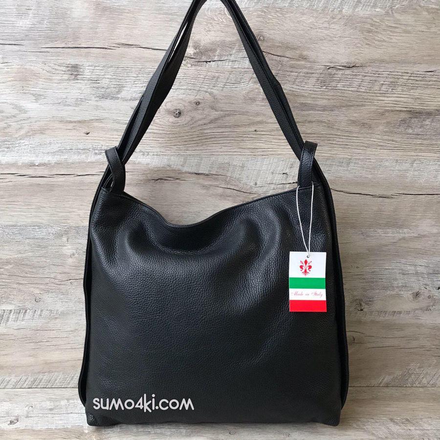 bd5d1889090d Купить сейчас - Женская кожаная итальянская сумка - рюкзак чёрный ...