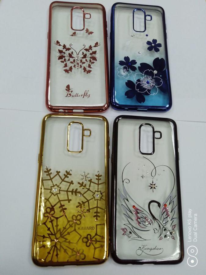 Чехол сo стразами Samsung A6 A7 J2 J3 J4 J6 J8 Xiaomi Mi8 Redmi 5 Plus