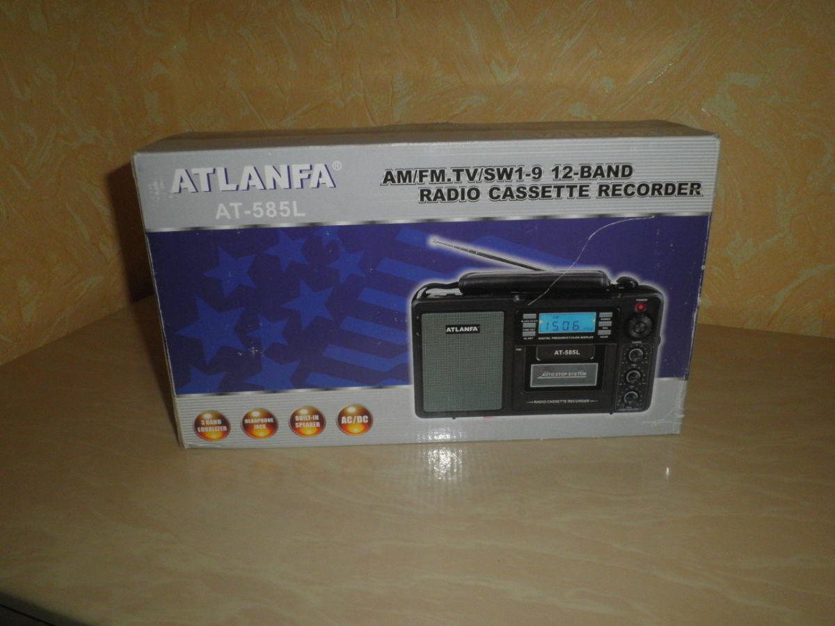 Радиоприёмник Atlanfa АТ-585l – 3-х волновой радиоприёмник-колонка, ан