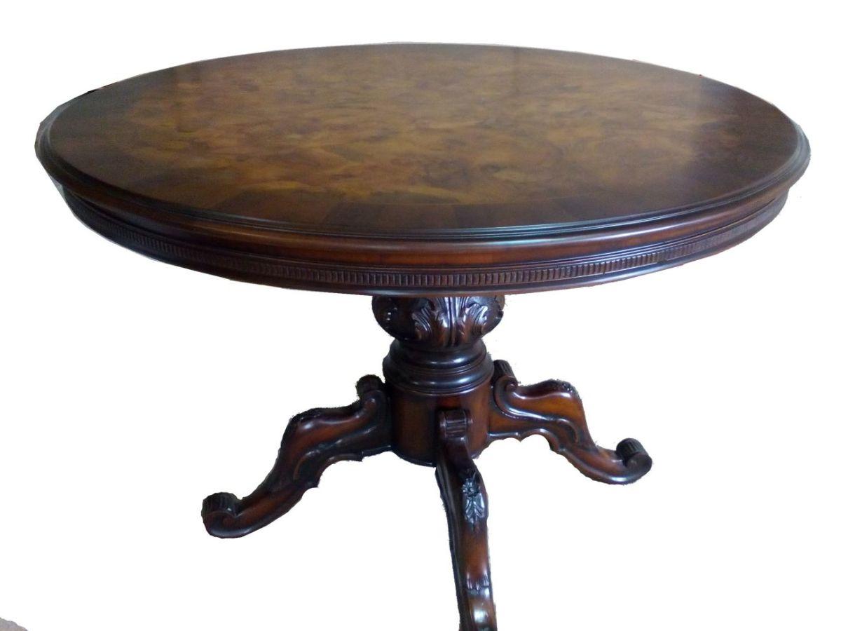 стол круглый барокко