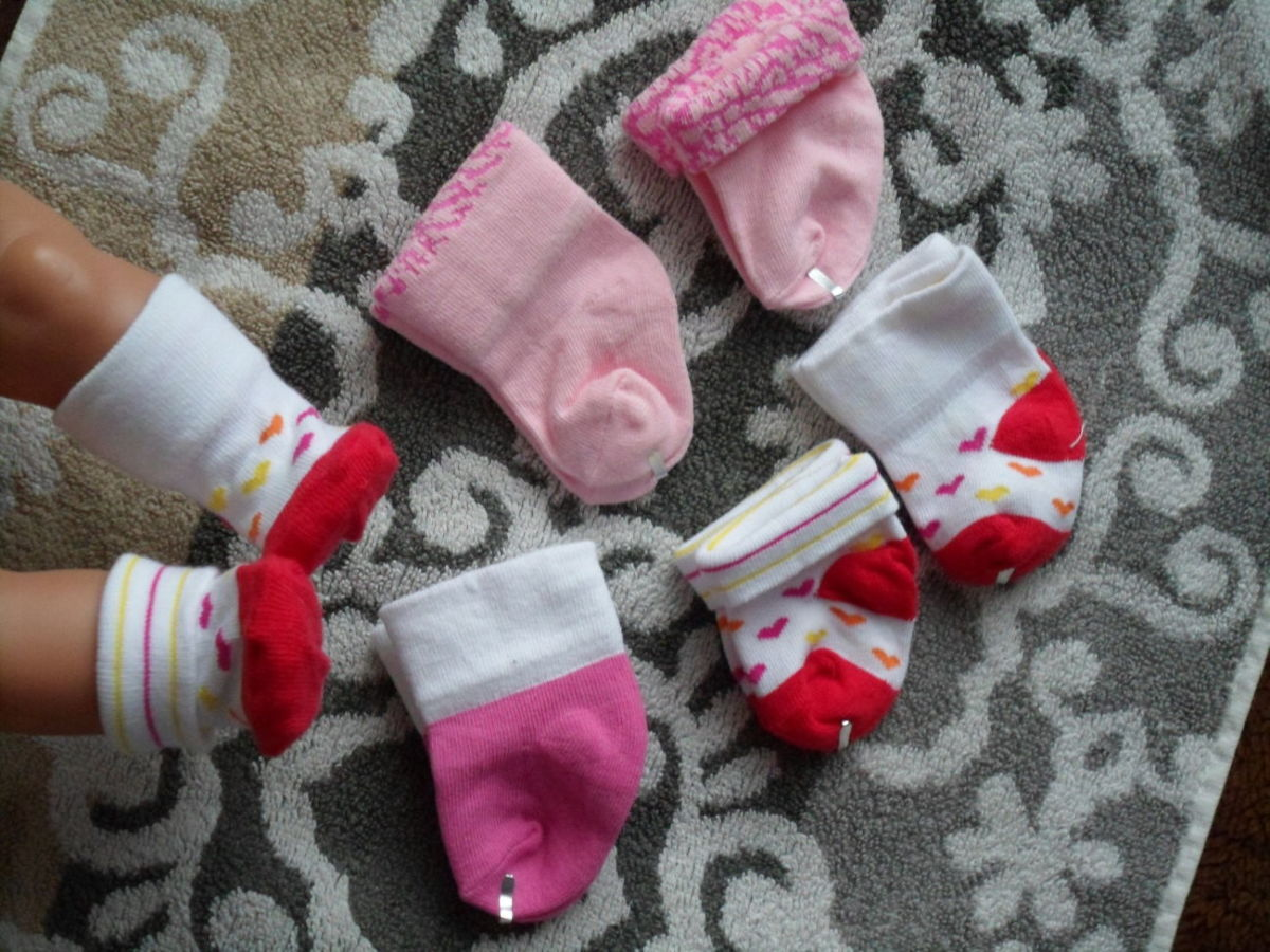 Одежда, носочки для куклы Беби Борн