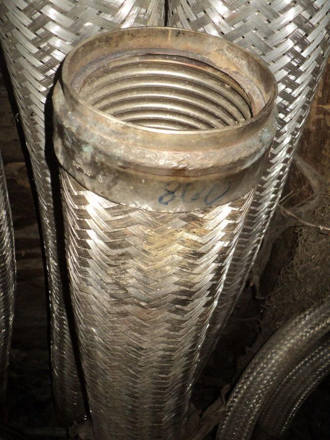 Металлорукав нержавеющая гибкий дымоход шланг гофрированный гофра 100