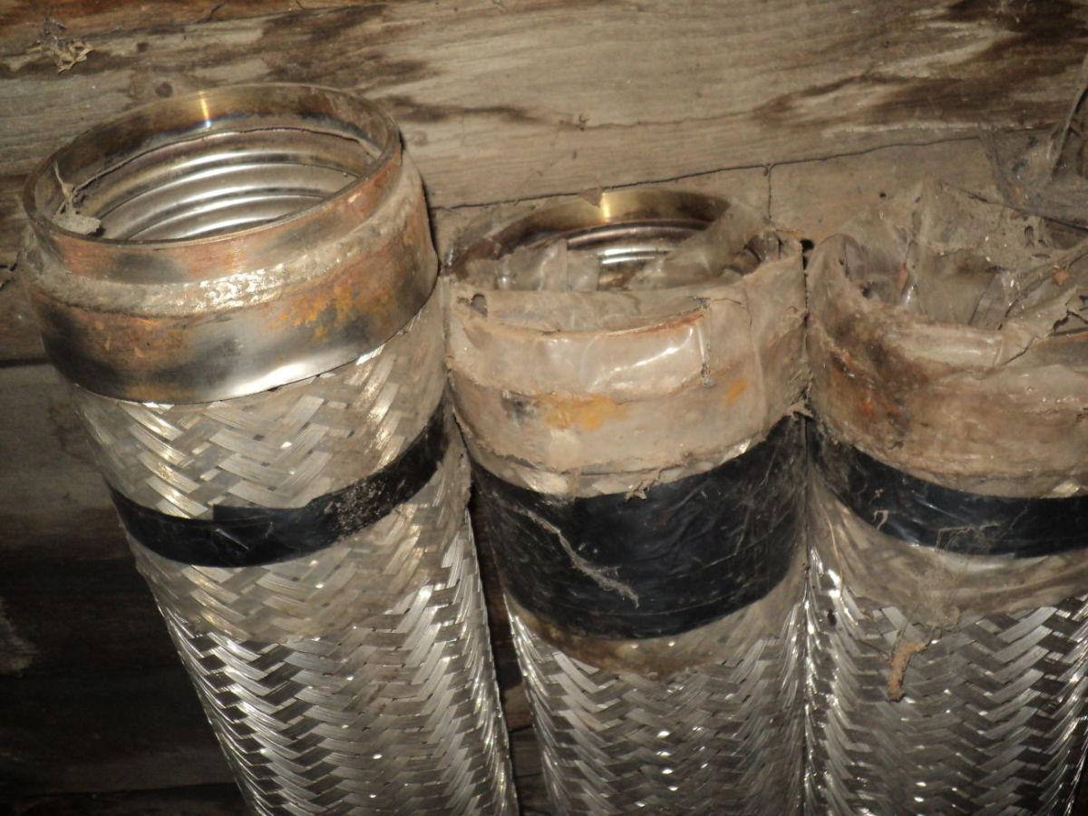 Металлорукав нержавеющая гибкий дымоход шланг гофрированный гофра 130
